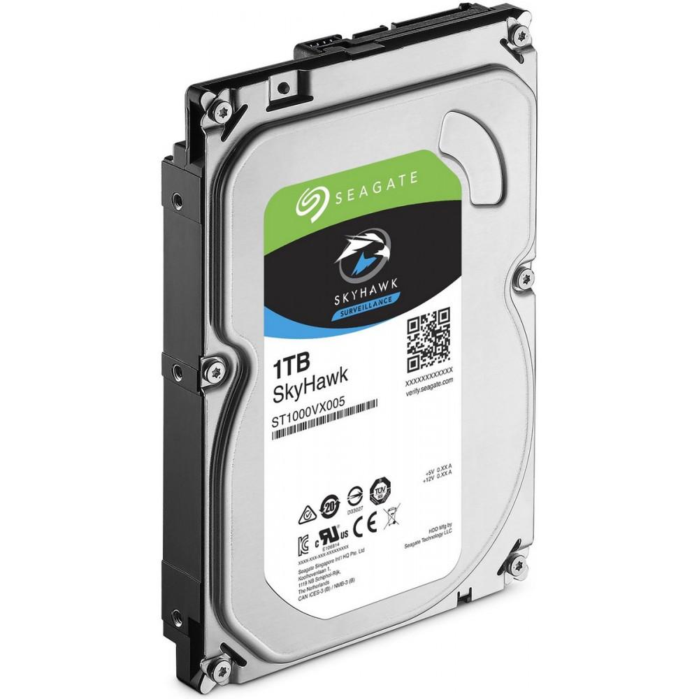 SEAGATE 1000GB 64MB SATA III SkyHawk Surveillance HDD, ST1000VX005