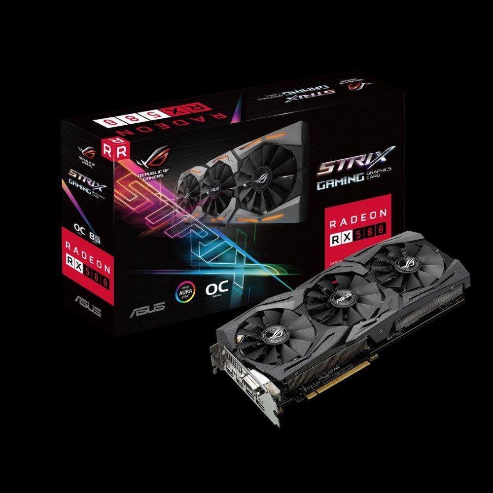ASUS 8192M RX 580, ROG-STRIX-RX580-O8G-GAMING PCI-E 3.0