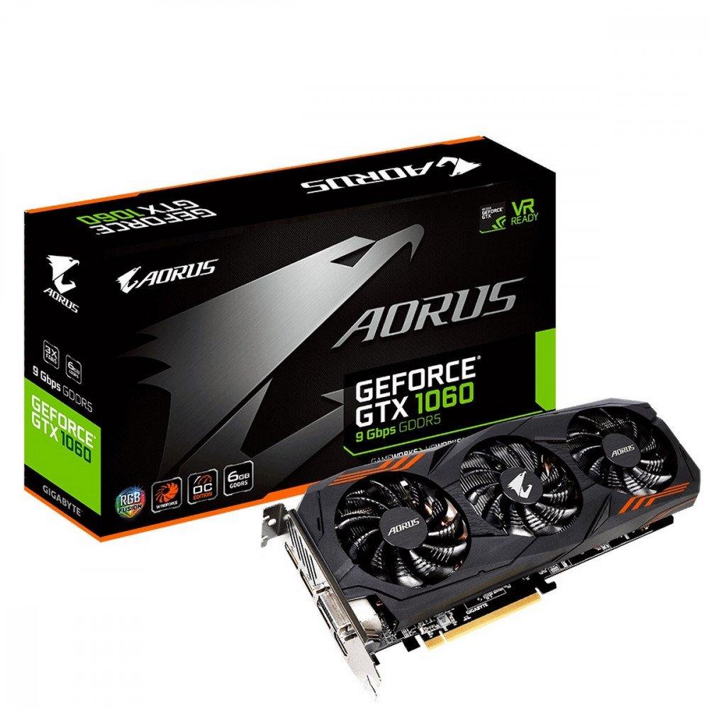 GIGABYTE 6144M GTX 1060, N1060AORUS-6GD rev 2.0 PCI-E 3.0