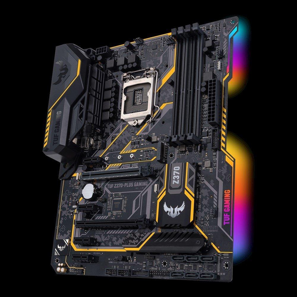 ASUS TUF Z370-PLUS GAMING, Z370, DDR4 4000(O.C.)/2133 MHz, DVI, HDMI, M.2 Socket, USB 3.1, LGA1151