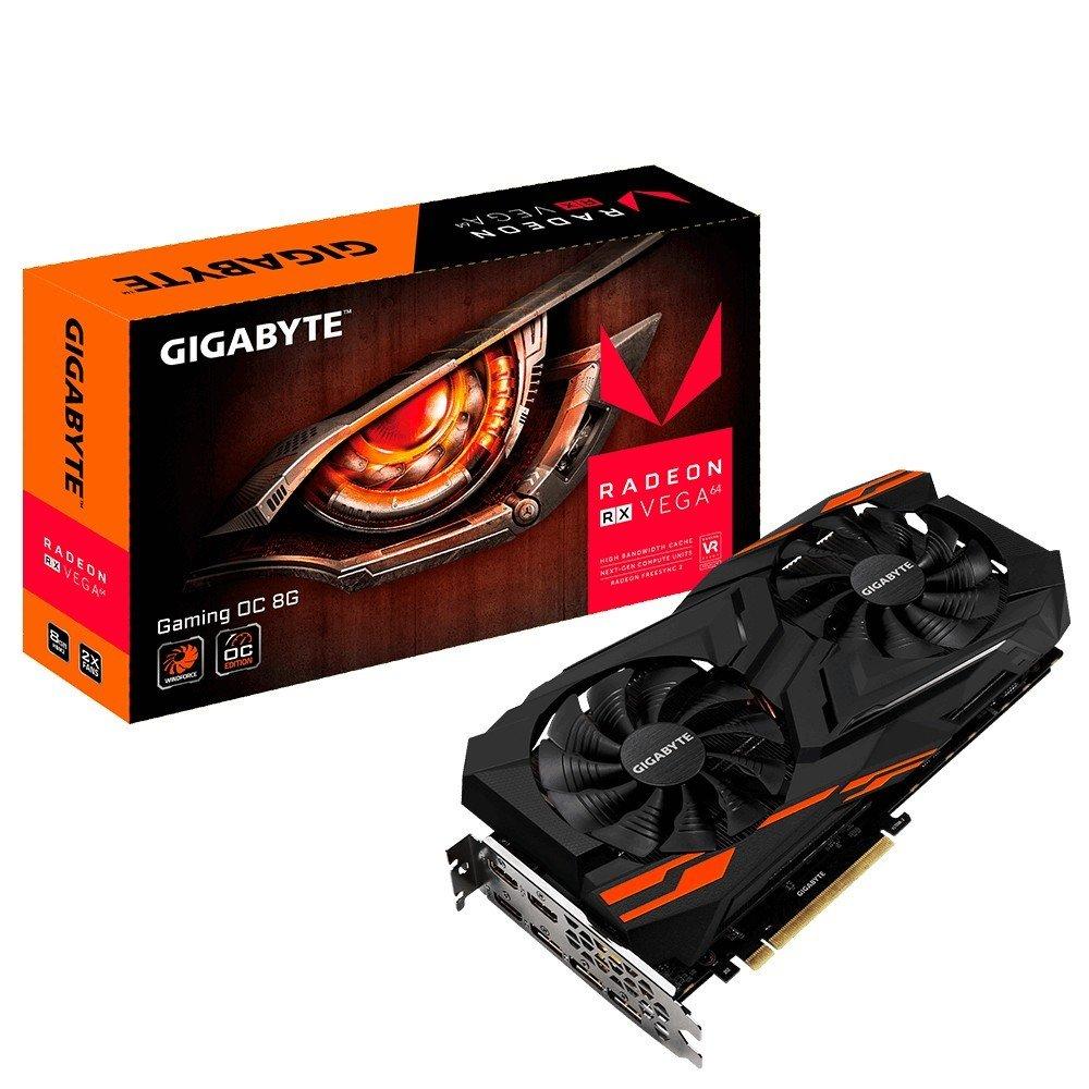 GIGABYTE 8192M RX VEGA 64 GAMING OC 8G, RXVEGA64GAMING OC-8GD, HBM2, PCI-E 3.0