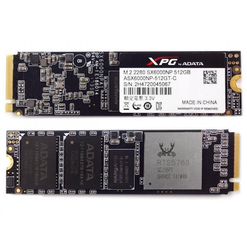 ADATA 512GB XPG SX6000 PCIe Gen3x2 M.2 2280 SSD