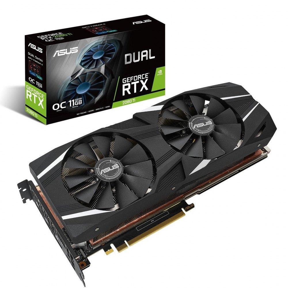 ASUS 11G RTX 2080 Ti, DUAL-RTX2080TI-O11G PCI-E