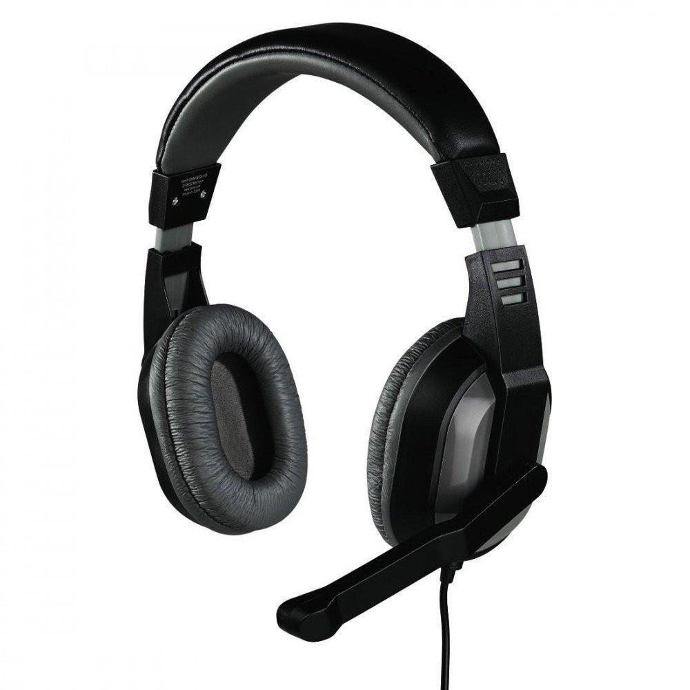 HAMA Слушалки с микрофон -53983/57174, Offbeat, стерео, сиви
