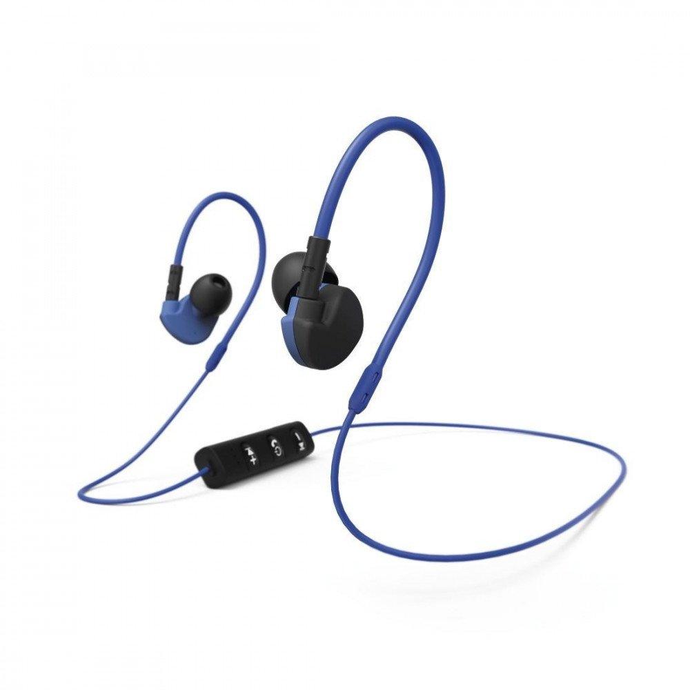 HAMA Спортни слушалки Active BT 177096, In-Ear, Bluetooth, Микрофон, Черен/Син