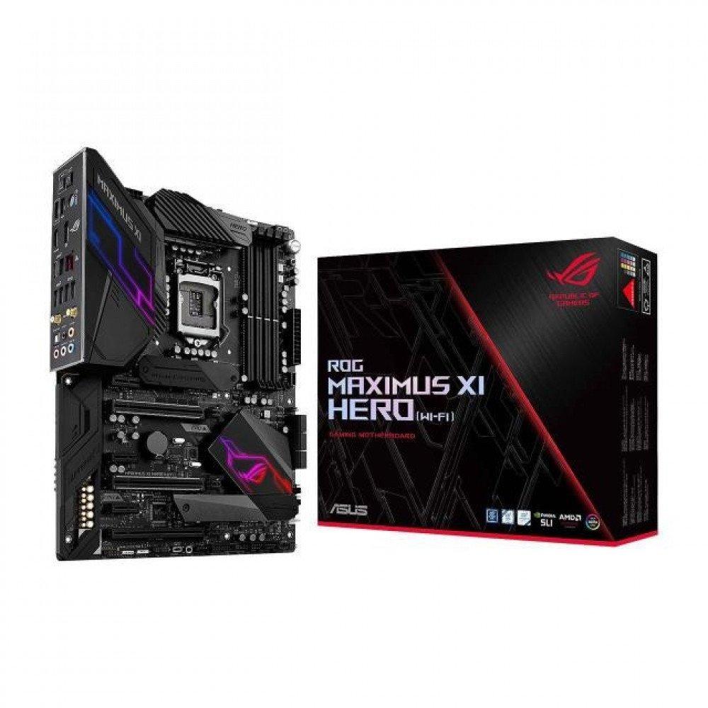ASUS ROG MAXIMUS XI HERO (WI-FI), Z390, DDR4 4400(O.C.)/2133 MHz, HDMI, DP, AC Wi-Fi, USB 3.1, LGA1151
