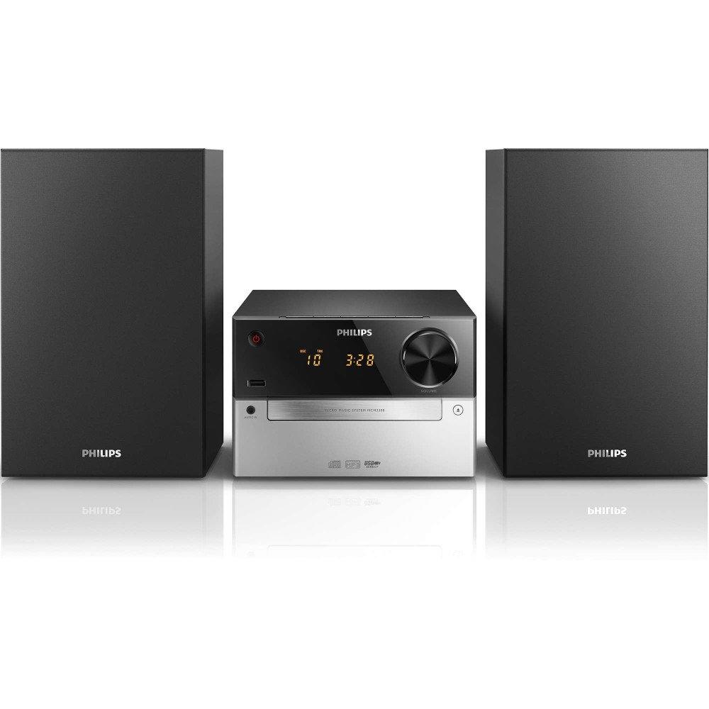 PHILIPS MCM2300, микро музикална система CD, MP3, USB, FM USB port