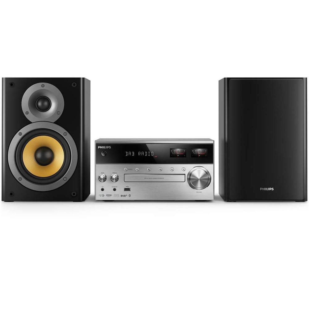 PHILIPS BTB8000, микро музикална система с измервател на VU и възпрозвеждане чрез BluetoothT /CD /MP3 / USB/ FM, 150 W RMS