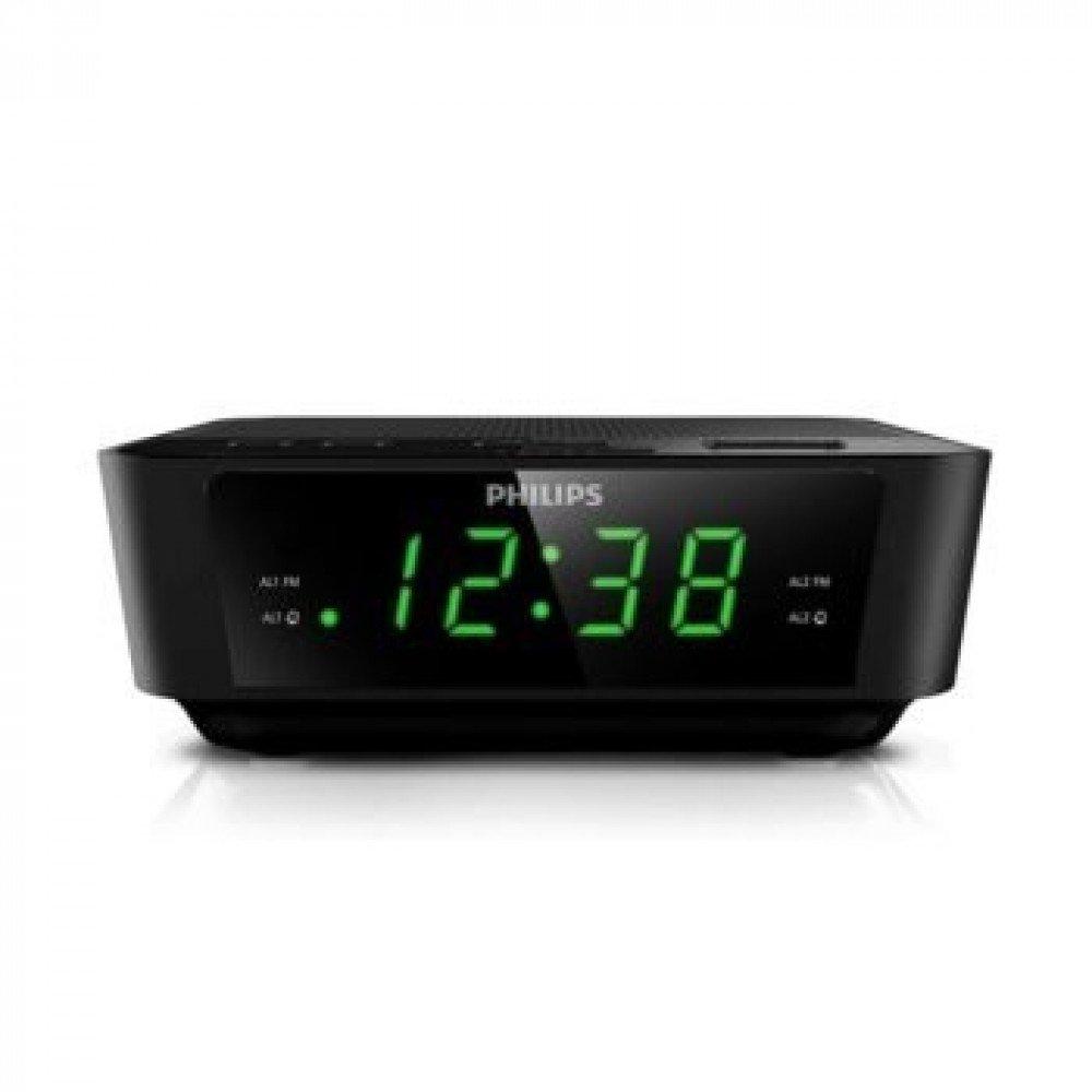 PHILIPS AJ3116, радио с часовник и аларма, компактен дизайн, черен