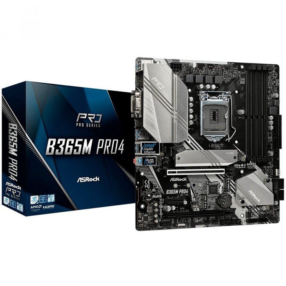 ASROCK B365M Pro4, B365, DDR4 2666/2400/2133, VGA, DVI, HDMI, M.2 Socket, RAID, USB 3.1, LGA1151