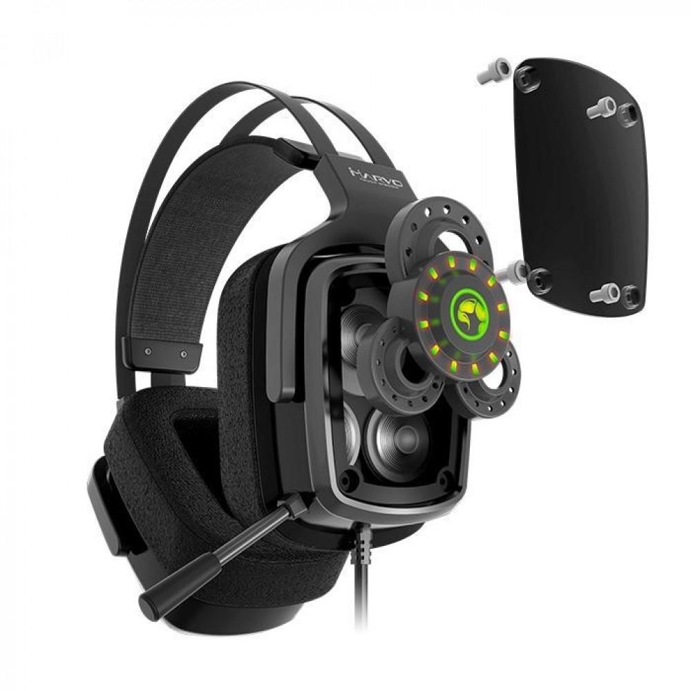 MARVO Геймърски слушалки Gaming Headphones HG9046 - TRUE 7.1, backlight