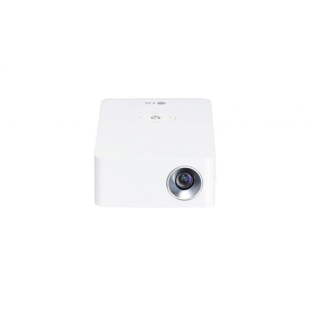 LG PH30JG Portable MiniBeam Projector w/ up to 4 hour battery life, RGB LED, HD (1280x720), 100 000:1, 250 ANSI Lumens, HDMI, MHL, WiDi, USB-A, USB Type-C, Speaker, White