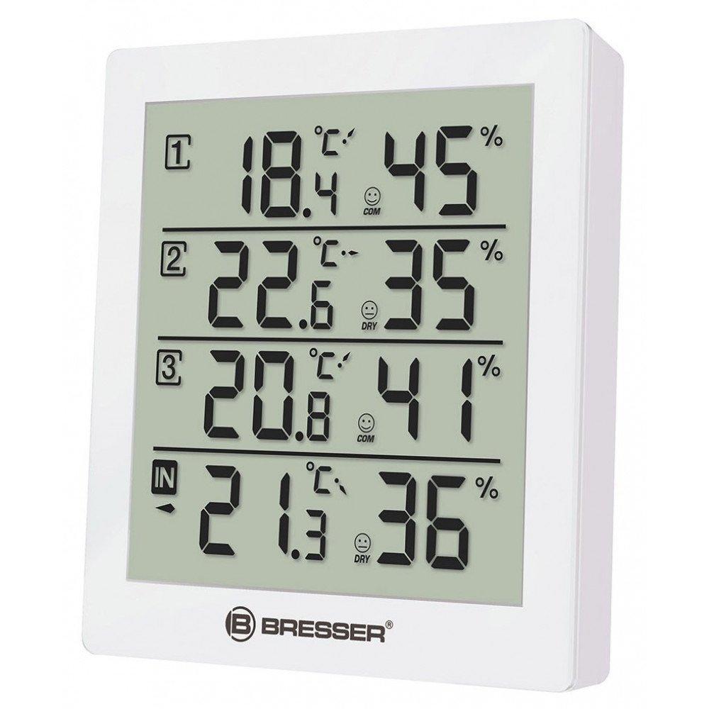 BRESSER Temeo Hygro Quadro Weather Station, white