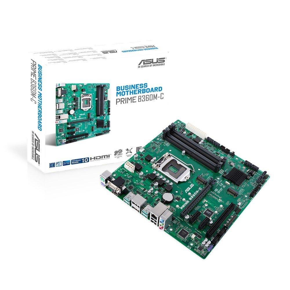 ASUS PRIME B360M-C, B360, DDR4 2666/2400/2133, VGA, HDMI, 2xDP, M.2 Socket, USB 3.1, LGA1151