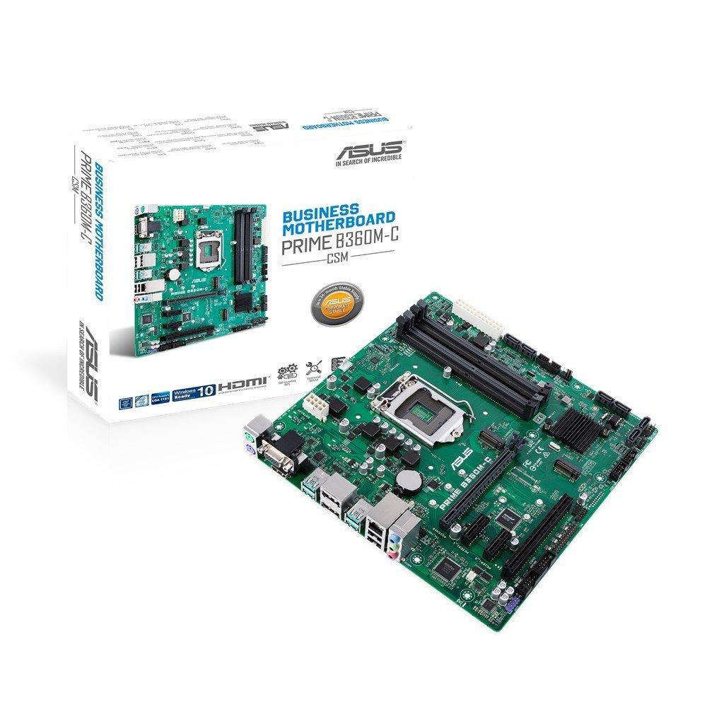 ASUS PRIME B360M-C/CSM, B360, DDR4 2666/2400/2133, VGA, HDMI, 2xDP, M.2 Socket, USB 3.1, LGA1151
