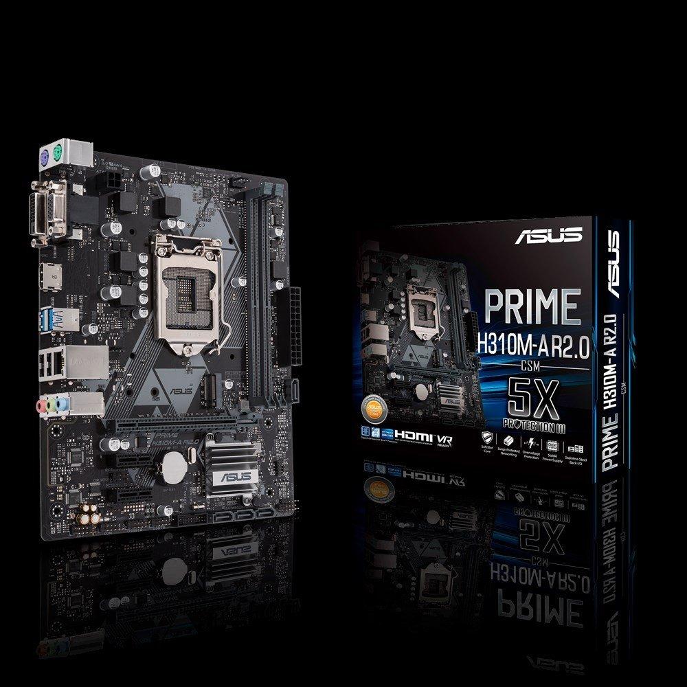 ASUS PRIME H310M-A R2.0/CSM, H310, DDR4 2666/2400/2133, VGA, DVI, HDMI, M.2 Socket, LGA1151