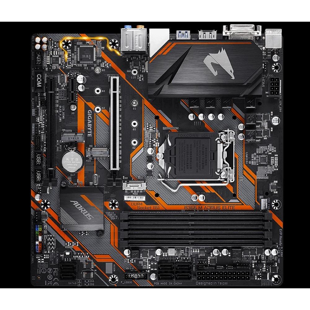GIGABYTE B365 M AORUS ELITE, B365, DDR4 2666/2400/2133, DVI, DP, HDMI, M.2 Socket, USB 3.1, LGA1151