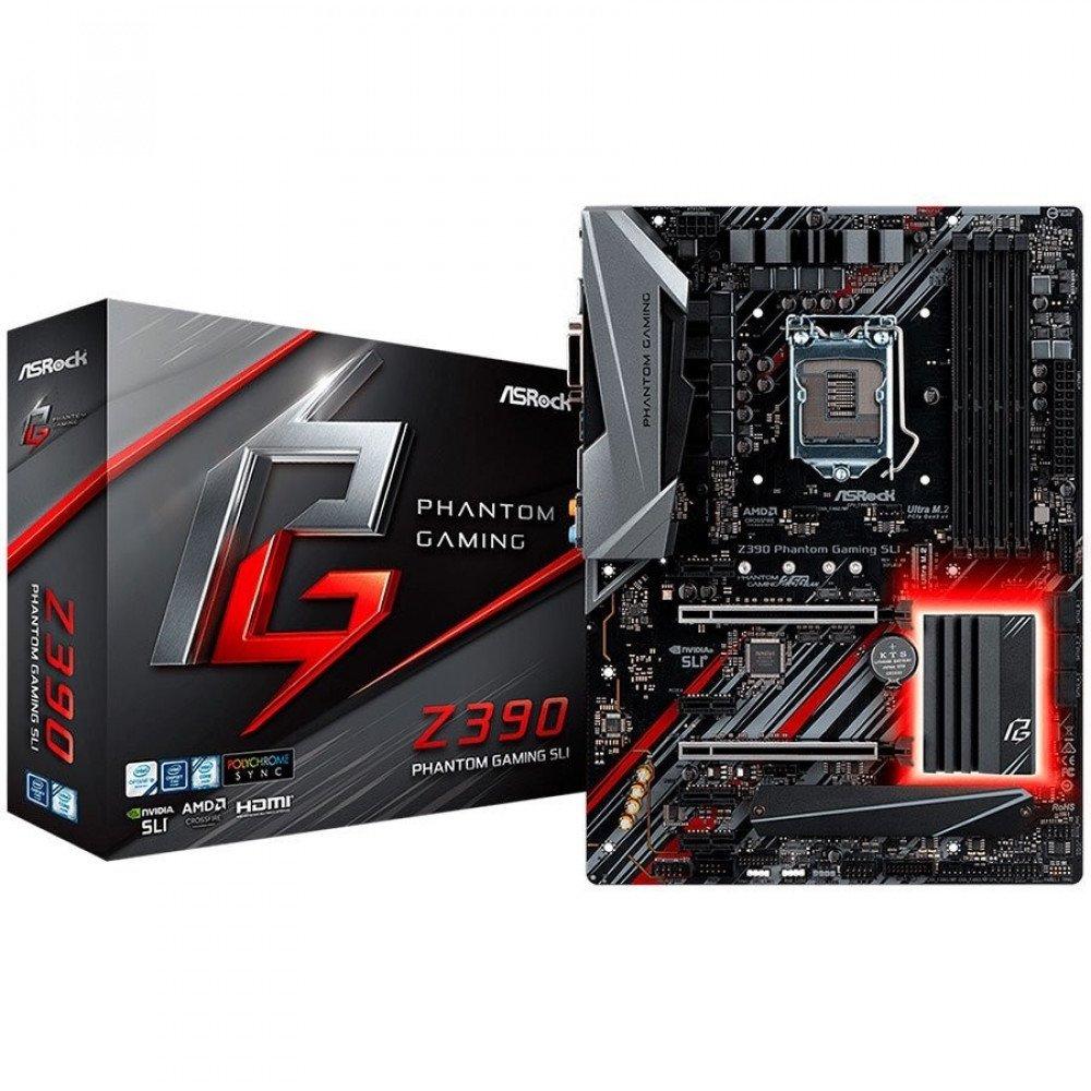 ASROCK Z390 (S1151v2, 4xDDR4,2xPCIe x16,4xPCI Ex1, 6 SATA3, 2xUltra M.2 ,GLAN, HDMI,DVI, COM Header,PS/2, USB 3.1, Type-C ) ATX retail