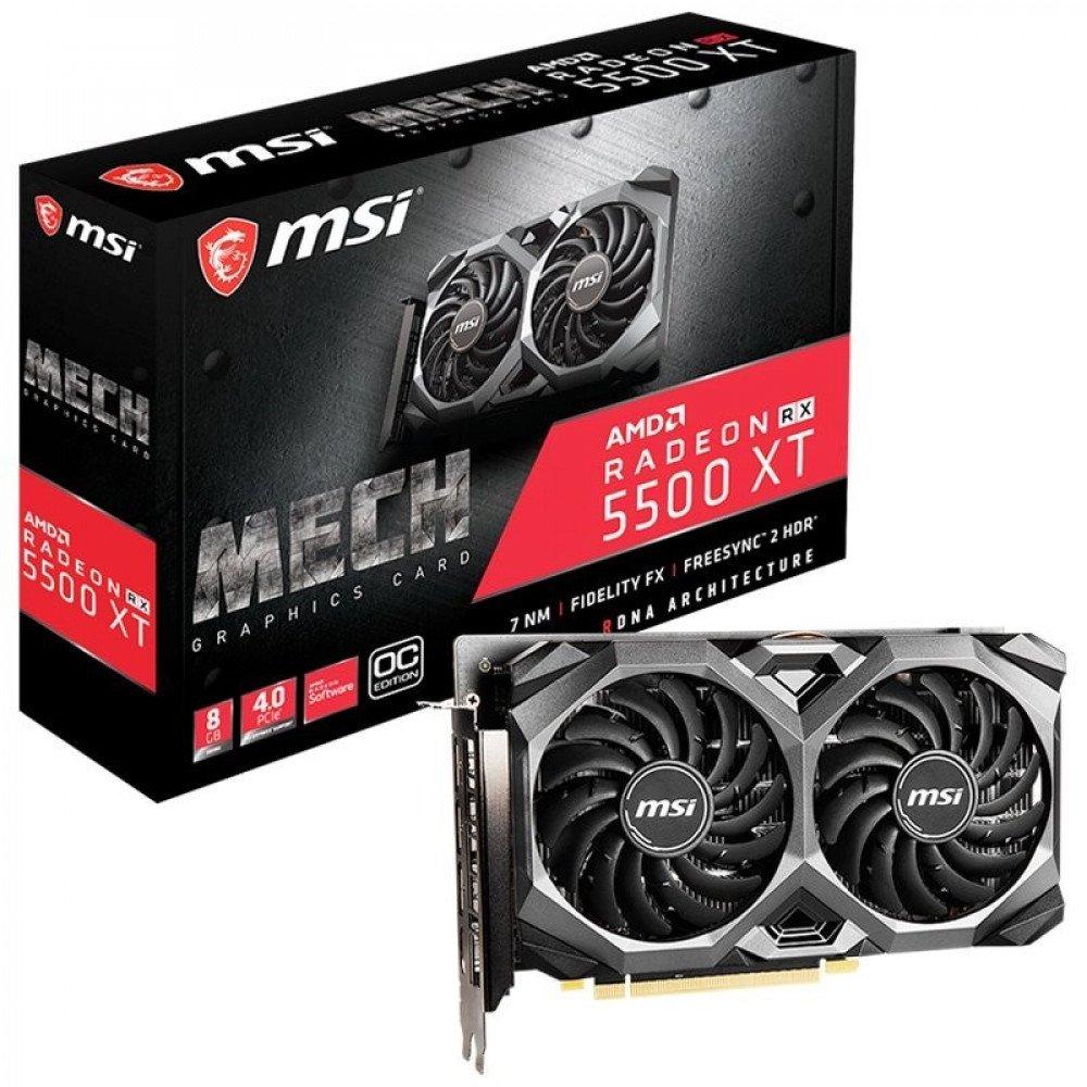 MSI 8192M RX 5500 XT MECH OC GDDR6 8GB/128bit, PCI-E 4.0, 3xDP, HDMI Retail