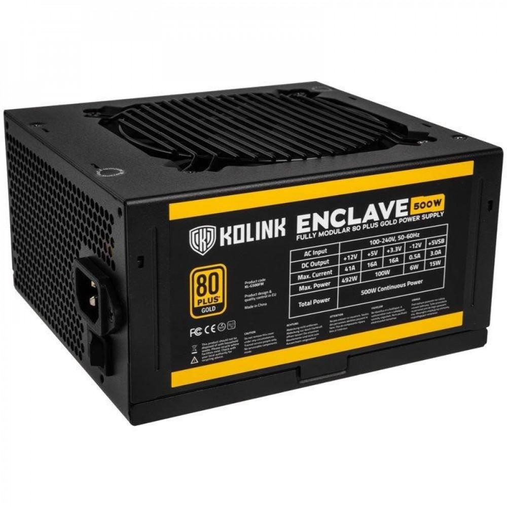 KOLINK Захранващ блок  Enclave 500W 80 PLUS Gold modular