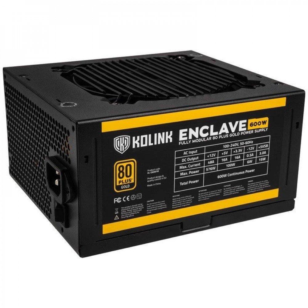 KOLINK Захранващ блок  Enclave 600W 80 PLUS Gold modular
