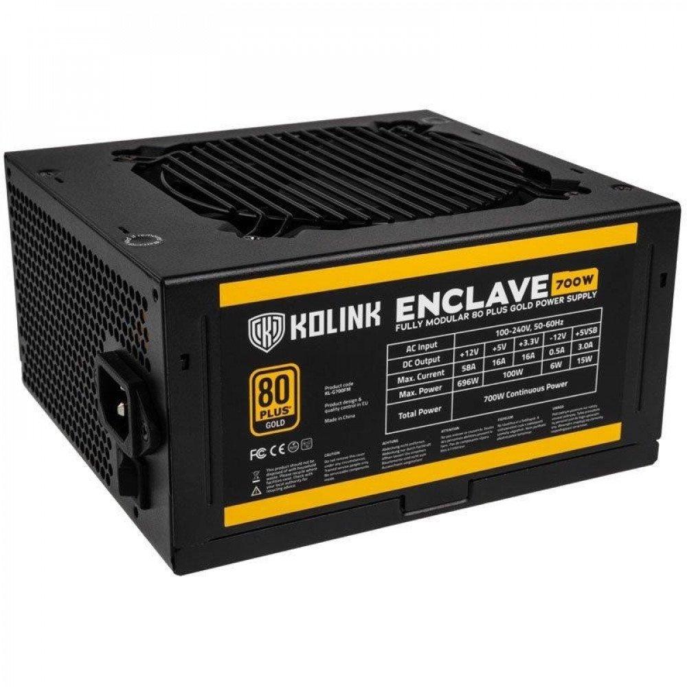 KOLINK Захранващ блок  Enclave 700W 80 PLUS Gold modular