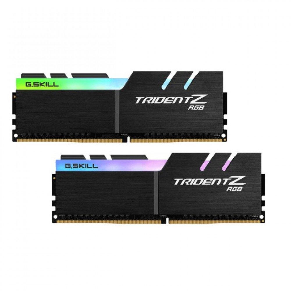 G.SKILL Trident Z RGB 16GB(2x8GB) DDR4 PC4-25600 3200MHz CL14 F4-3200C14D-16GTZR