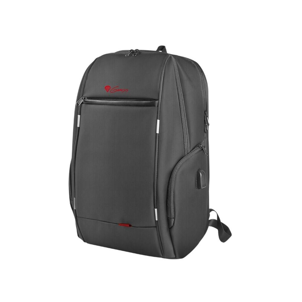 NATEC Genesis Laptop Backpack Pallad 400 Usb Black 15,6