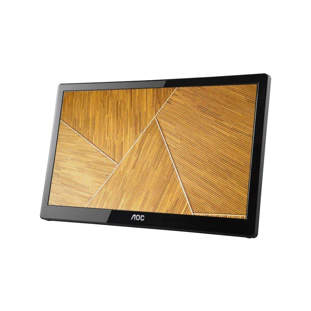 AOC Монитор AOC E1659FWU 15.6 inch LCD Wide WLED, 1366x768, TN Panel, 5ms, 500:1, 200 cd/m2, USB hub