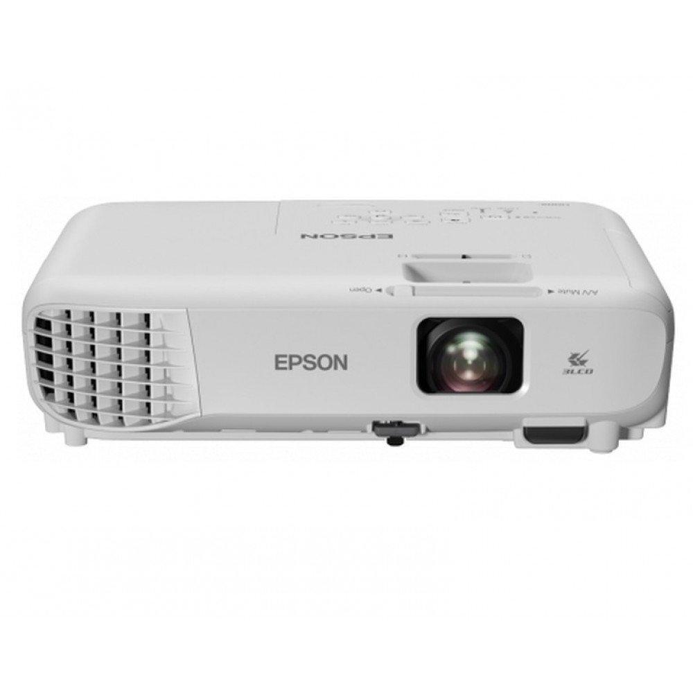 EPSON Epson EB-W06, WXGA (1280 x 800, 16:10), 3700 ANSI lumens, 16 000:1, HDMI, USB, WLAN (optional), Speakers, 24 months, Lamp: 12 months or 1000 h, White
